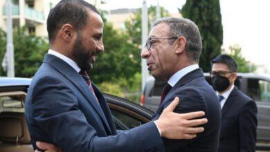 صورة مرزوق الغانم ممثلاً عن البرلمانات العربية يعقد في جنيف جلسة مباحثات مع باشيكو