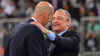 """صورة """"رئيس نادي ريال مدريد"""" يتنازل عن 10 ملايين يورو لـ """"زيدان"""""""
