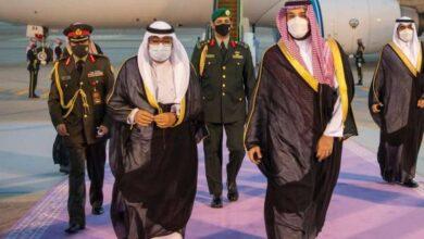 صورة سمو ولي العهد يصل إلى السعودية في زيارة رسمية