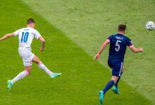 صورة كأس الأمم الأوروبية : التشيكى شيك سجل هدفا خياليا في مرمى اسكتلندا