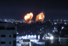 صورة غارات إسرائيلية جديدة على قطاع غزة
