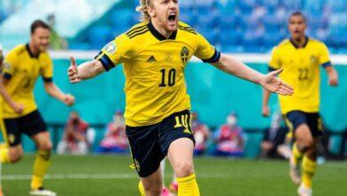 صورة السويد تفوز على سلوفاكيا وتتصدر المجموعة الخامسة