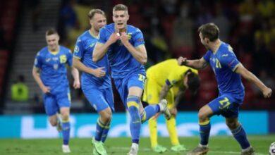 صورة أوكرانيا تواجه إنجلترا في ربع نهائي اليورو