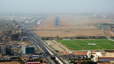 صورة 12 طائرة إثيوبية تهبط في مطار الخرطوم.