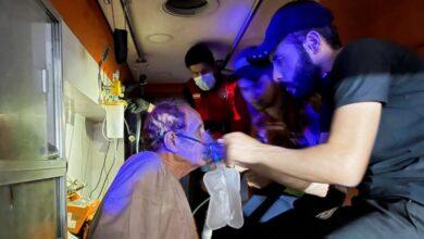 صورة عشرات القتلى في حريق بجناح مصابي كورونا بمستشفى عراقي