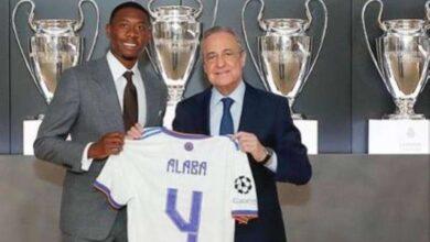 صورة ألابا يحمل رقم راموسفي ريال مدريد