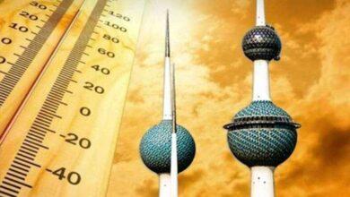 صورة حرارة الكويت .. 53.5 مئوية في الظل و70 تحت الشمس