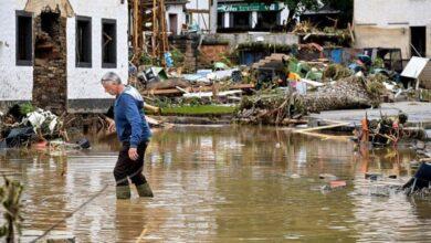 صورة فيضانات ألمانيا: أكثر من 103 قتيلا ومئات المفقودين وأنغيلا ميركل تتعهد بدعم الضحايا