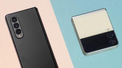 """صورة سامسونغ تكشف عن أحدث هواتفها الذكية القابلة للطي """"فولد 3″ و""""زد فليب 3"""""""