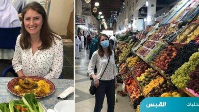 صورة السفيرة البريطانية تجولت في سوق المباركية