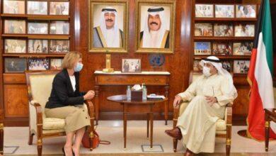 صورة الناصر يستقبل سفيرة فرنسا وسفير جيبوتي بمناسبة انتهاء فترتي عملهما