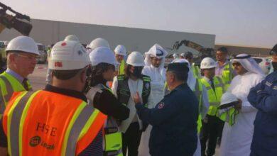 صورة انهيار رملي في مطار الكويت الجديد «قيد الإنشاء»