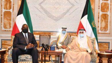 صورة سمو الأمير يستقبل وزير الدفاع الأميركي