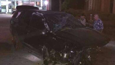 صورة حادث مروّع أودع وائل كفوري في المستشفى