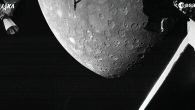 صورة الفضاء: المهمة الفضائية الأوروبية لعطارد ترسل أول صورة للكوكب