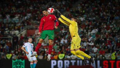 """صورة """"هاتريك"""" رونالدو يقود البرتغال لفوز كبير على لوكسمبورغ"""